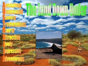 The Land Down Under.